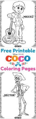 Download Free Coco Coloring Pages And
