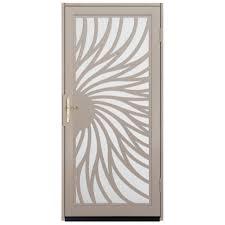 perforated metal screen door. Solstice Tan Surface Mount Steel Security Perforated Metal Screen Door R