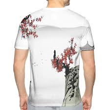 Asian T Shirt Measurement Chart Nicokee 3d T Shirt Asian River Scenery With Cherry Blossoms