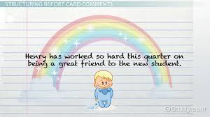 Kindergarten Report Card Comments - Video & Lesson Transcript ...