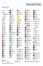 55 Complete Swarovski Crystal Rhinestones Size Chart