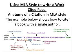 Using Mla Style To Write A Work Cited Page Ppt Download
