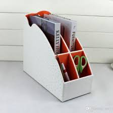 File holder box Magazine 2019 Slot Wood Leather Desktop Office File Document Stationery Tray Rack File Stand Organizer Pen Holder Box Ostrich White 266c From Syc1 Dhgatecom 2019 Slot Wood Leather Desktop Office File Document Stationery