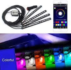 Coloured Interior Car Lights Amazon Com Zhl Interior Car Lights 12 Led Multicolor Car