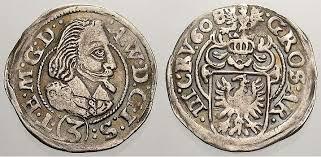 Schlesien-Teschen 3 Kreuzer 1608 Adam Wenzel 1579-1617. VF-EF | MA-Shops