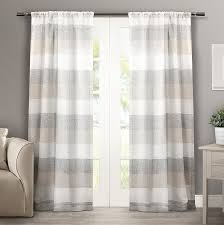 Amazon.com: Exclusive Home Curtains Bern Rod Pocket Window Curtain Panel  Pair, Natural, 50x84: Home & Kitchen