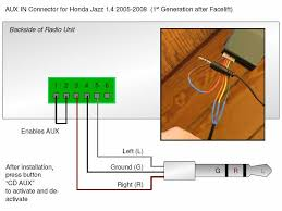audio how can i connect an aux input to a 2004 honda jazz stock enter image description here