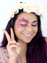 last minute halloween makeup costume flower child tutorial slashed beauty