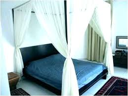 Blackout Bed Canopy Drapes Beautiful Black Curtains For Sale C ...