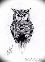 эскизы тату сова мужские 09032019 003 Tattoo Sketches
