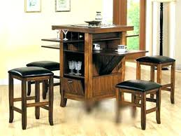 stupendous bar height kitchen table with storage