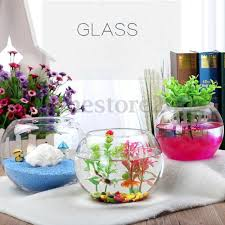 round clear glass vase fish tank ball bowl flower planter terrarium home decor
