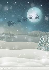 Fab Vinyl Santa Claus Over The Moon With Reindeer Backdrop ...