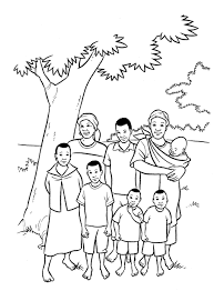 Small Picture Family 9 Characters Printable coloring pages