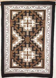 picture of two grey hill navajo rug zb
