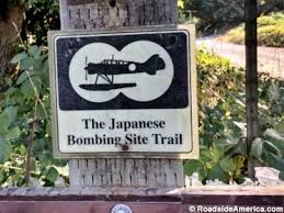 Image result for japanese first air bombing:an Oregon forest, near the town of Brookings,map