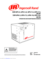 ingersoll rand ssr up5 11c manuals ingersoll rand ssr up5 11c operation and maintenance manual 200 pages