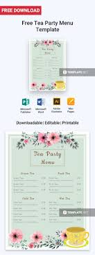 Get This Wonderfully Made Menu Template For Your Tea Shop Or