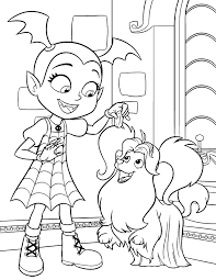 Vampirina And Wolfie Coloring Pages Disney Lol