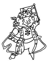 Piraat Kleurplaat Met Piratenvlag