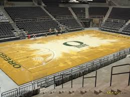Matthew Knight Concert Seating Chart Oregon Basketball Court Matthew Knight Arena And The 10