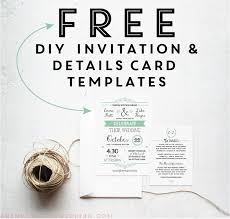 Wedding Enclosure Card Template Free Printable Wedding Invitation Templates Online Download Them