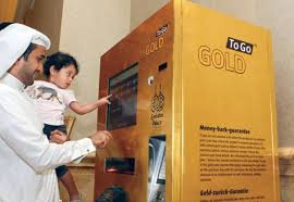 Gold Vending Machine Locations Gorgeous DUBAI A Machine That Dispenses Gold Bars Has Been Unveiled At Abu