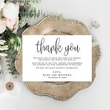 Wedding Thank You Notes Templates Wedding Thank You Notes Printable Templates Editable Thank You Template Thank You For Guests Thank You Table Cards For Wedding Cards Vm41