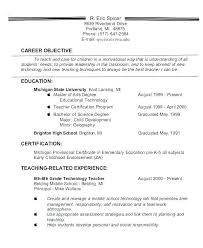 career goals for resumes teacher resume objective samples teacher career change resume resume