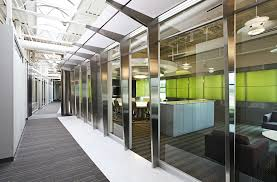 Davis & Davis Interior Design worked with Lee Steel to create an office  environment that honored