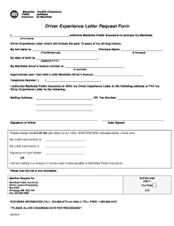 2015 2018 Form Canada Driver Experience Letter Request Form Fill