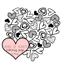 Valentines day coloring pages symbols include hearts pages, doves, card coloring pages and. Heart Of Hearts Coloring Page Or Printable U Create