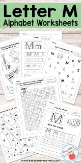 Practice writing the letter m in uppercase and lowercase. Letter M Worksheets Alphabet Series Easy Peasy Learners