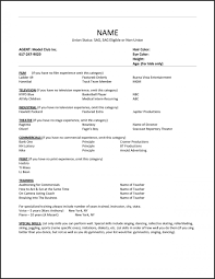 Musical Theatre Resume Examples Best Of Music Resume Template
