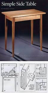Simple Furniture Plans Simple Side Table Plans Furniture Plans And Projects