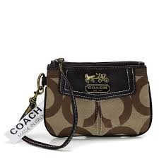 Coach Madison In Signature Small Beige Wristlets AHY