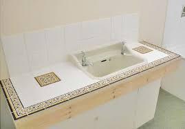 tile bathroom countertop ideas. border tile and accent in a bathroom countertop, vanity countertop ideas i