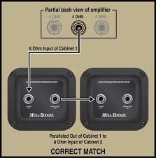 mesa boogie speaker impedance matching and hook up part 1 mesa parallel output jack for two 4 ohm cabinets click to enlarge