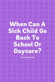 Doctors Note For Pink Eye When Can A Sick Child Return To School Or Daycare