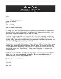 Real Estate Cover Letter