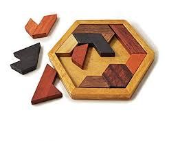 Amazon.com: KINGZHUO Hexagon Tangram <b>Classic</b> Chinese ...