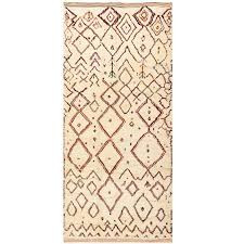beige vintage beni ourain moroccan rug for