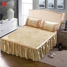 cool bed sheets for summer. Unique Summer Home Textile Summer Cool Bed Skirt Set Golden Flower Sheet Twin Full  Queen Blue In Cool Bed Sheets For M