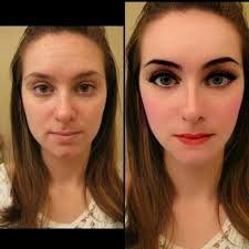 pic of before and after edit youcam makeup app i not good in doing my own