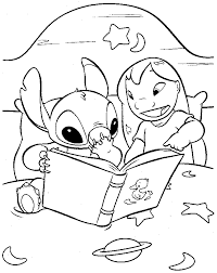 Small Picture Lilo and Stitch Coloring Pages Free Printable painting on the