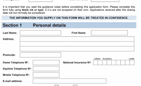 Document Template : Samples Of Employment Fresh Application Form