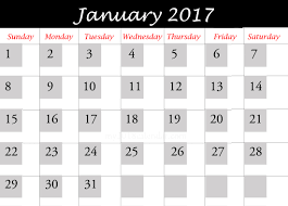 Calendar Templates For January 2017 Best Design at my2018calendar ...