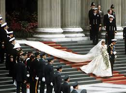 Image result for image wedding Princess Diana
