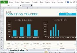 fundraising tracker template free donation tracking templates for excel
