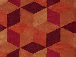 geometric contemporary red rugs